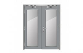 cửa thép chống cháy đôi