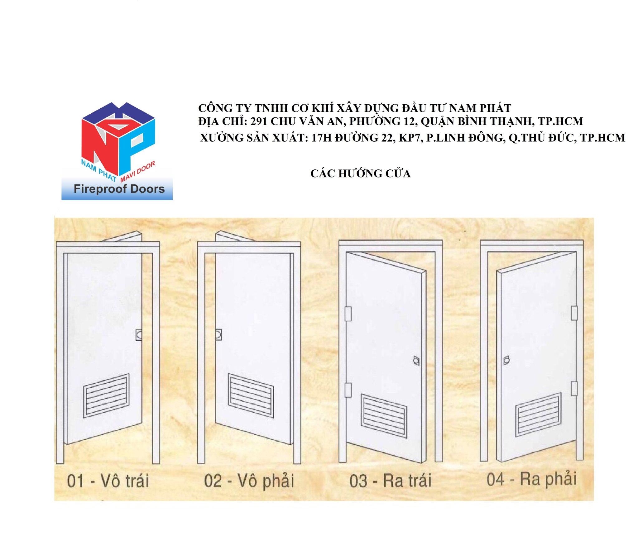 Bản thiết kế cửa thép chống cháy